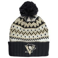 Women's Pittsburgh Penguins CCM Black Cuffed Current Knit Hat