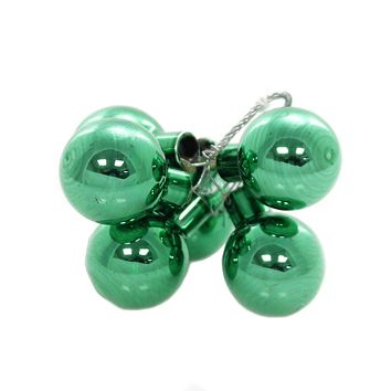 Shiny Brite HS CLUSTERS. Glass Ornament 4027580S Green