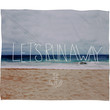 Leah Flores Lets Run Away III Fleece Throw Blanket
