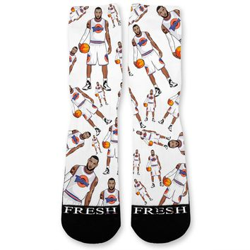 LeBron Space Jam Custom Athletic Fresh Socks