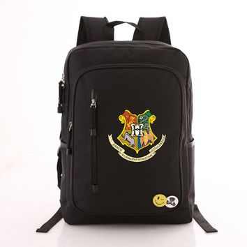 Student Backpack Children Harry Potter Printing School Bags Book Backpacks Children Bag Canvas Students Rucksack Travel Laptop Bag Men Women AT_49_3