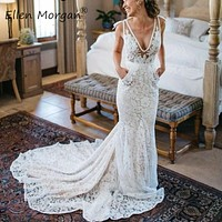 Lace Bohemia Mermaid Wedding Dress