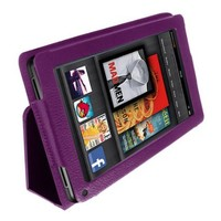 Poetic (TM) Leather Folio Case for Amazon Kindle Fire With 3-in-1 Built-in Stand Purple