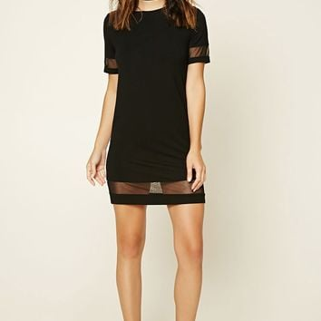 Contemporary Mesh-Cutout Dress