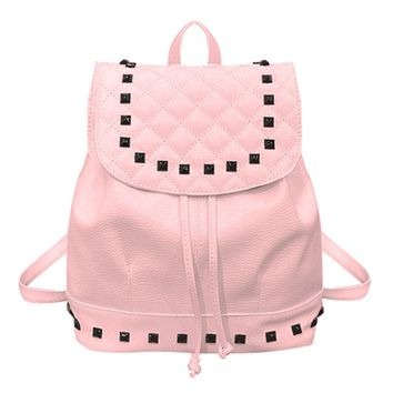 Women Backpack Casual Girls Washed  Leather School Bag