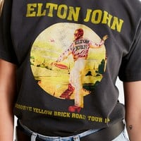 Elton John Yellow Brick Road Tee | Urban Outfitters