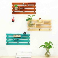 Key Hook Rack with Shelves