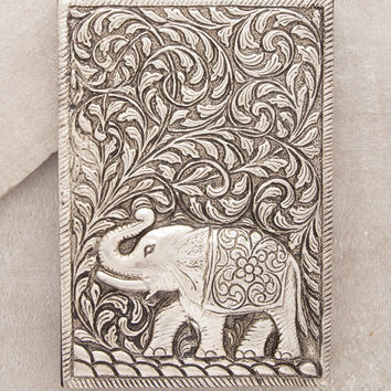 Metal Lucky Elephant Journal