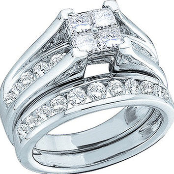 Diamond Bridal Set in 10k White Gold 0.52 ctw