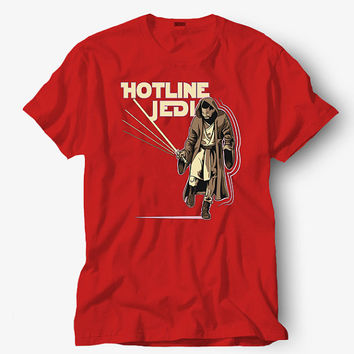 Hotline jedi shirt, Starbucks shirt, Hot product on USA, Funny Shirt, Colour Black White Gray Blue Red