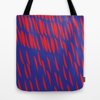 BLUE AND RED Tote Bag by IN LIMBO ART | Society6