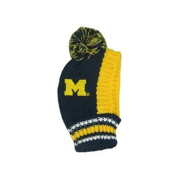 DCCKIV4 Michigan Wolverines Pet Knit Hat