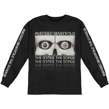 Avenged Sevenfold Men's  AVS Eyes Mens Longsleeve  Long Sleeve Black