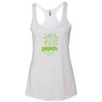 Psych Pineapple Women's Tri-Blend Racerback Tank Top
