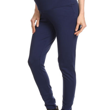 Zen Maternity Full Length Jersey Leggings with fold-up or down panel