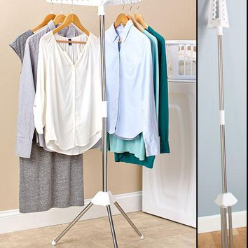 Clothes Rack Laundry Hang Dry Space Saver Portable Compact Hanging Drying 3 Arms