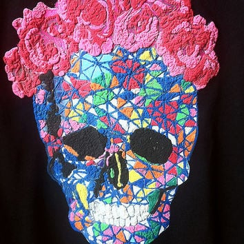 Frida Skull shirt 3D Dia  De Los Muertos tee  Day of the Death  skeleton painting mexican