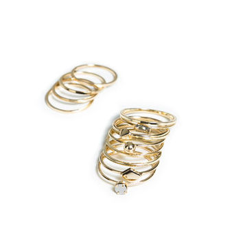 PACK OF THIN RINGS