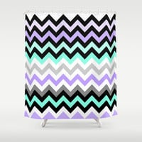 Chevron #14 Shower Curtain by Ornaart