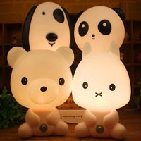 Animal Panda Rabbit Dog Bear Cartoon Kids Desk Table Lamp Night Light Gift TBUS