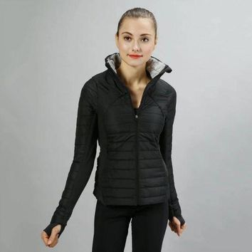 CREYUP0 Lululemon Women Fashion Down Cardigan Jacket Coat-2