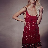 Gauze Sequin Shift Dress