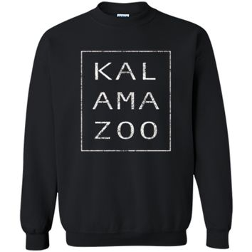 The Original Modern Retro Kalamazoo Michigan T Shirt Gift Printed Crewneck Pullover Sweatshirt