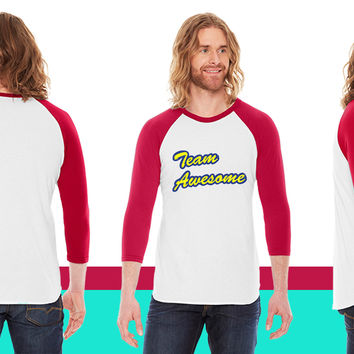 Team Awesome1 American Apparel Unisex 3/4 Sleeve T-Shirt