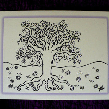 Alternative / Folk - Anniversary - Romance - Greeting Card w / envelope - Recycled Paper - IntricateKnot