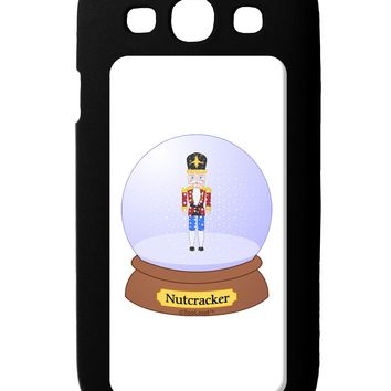 Nutcracker Snow Globe - Red Gold Black Galaxy S3 Case  by TooLoud