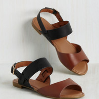 Boardwalk the Line Sandal in Tan | Mod Retro Vintage Sandals | ModCloth.com
