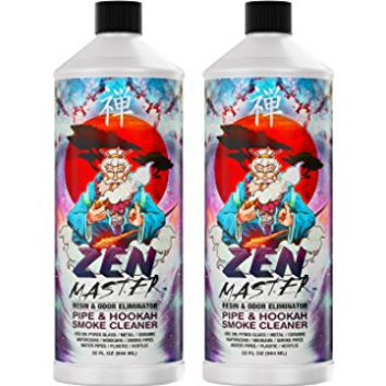 ZEN MASTER GLASS PIPE CLEANER / BONG CLEANER - 32oz Value Size Resin & Odor...