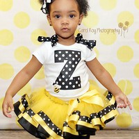 bee tutu, yellow bee tutu, tutu, birthday tutu