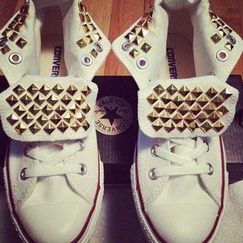DCCK1IN studded converse van studdedhippies op etsy