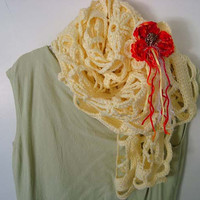 Goddess Yellow Irish Lace Style Womens by jennymillerartistry