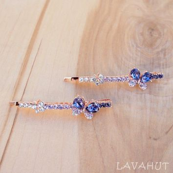 Butterfly Sparkly Hair Pin Set