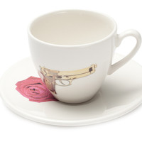Guns & Roses Teacup and Saucer
