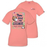 """Simply Southern """"You Drive Me Coconuts"""" T-Shirt"""