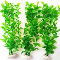 Best Quality 26cm Long Plastic Green Grass Aquarium Decor Water Sea Weed Fish Tank Decor