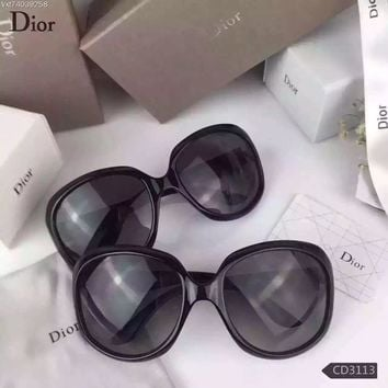 Christian Dior Lady Black Leather Fuchsia Womens Sunglasses | Best Deal Online