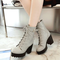 On Sale Hot Deal Dr. Martens Winter Thick Crust High Heel Boots [8866978188]