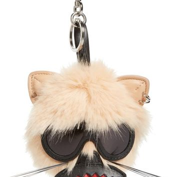 Stella McCartney Cat Faux Fur Bag Charm | Nordstrom