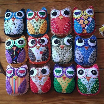 Create Your Own HOOT Eco Felt OWL Plush Toy Custom Colors