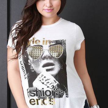 Fashion Trends Graphic Print Tee Shirt