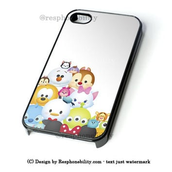 Disney ''Tsum Tsum'' Pattern iPhone 4 4S 5 5S 5C 6 6 Plus Case , iPod 4 5 Case , Samsung Galaxy S3 S4 S5 Note 3 Note 4 Case , and HTC One X M7 M8 Case