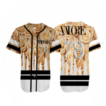 Dripping Lavish Jersey |WHITE & GOLD
