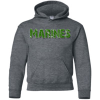 United States Marine Corps Green : Gildan Youth Pullover Hoodie