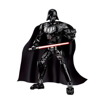 Star Wars Force Episode 1 2 3 4 5 Buildable Action Figure Space  Darth Vader Lord Anakin Skywalker Lightsaber Samll Build Block Toy AT_72_6