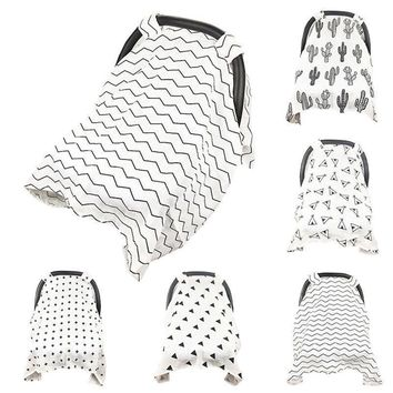 Baby Stroller Car Seat Cover Breathable Sun Shade Canopy Dustproof Blanket Triangle/Tent/Ripple/Cross