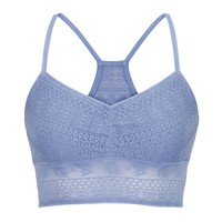 Ethnic Lace Racerback Bralette - New Chambray